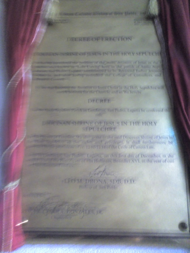 Decree of Erection.