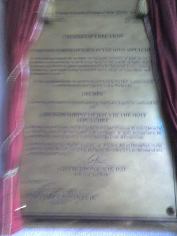 Decree of Erection.