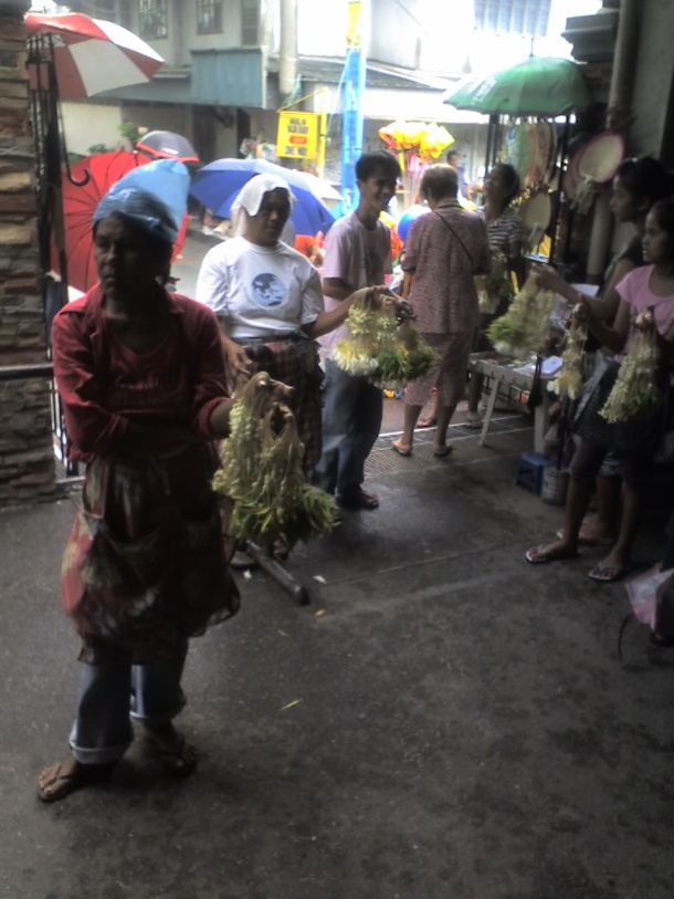 Sampaguita vendors. San Pedro, La Laguna is the Sampaguita Capital of the Philippines.