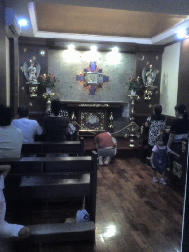 Adoration chapel.
