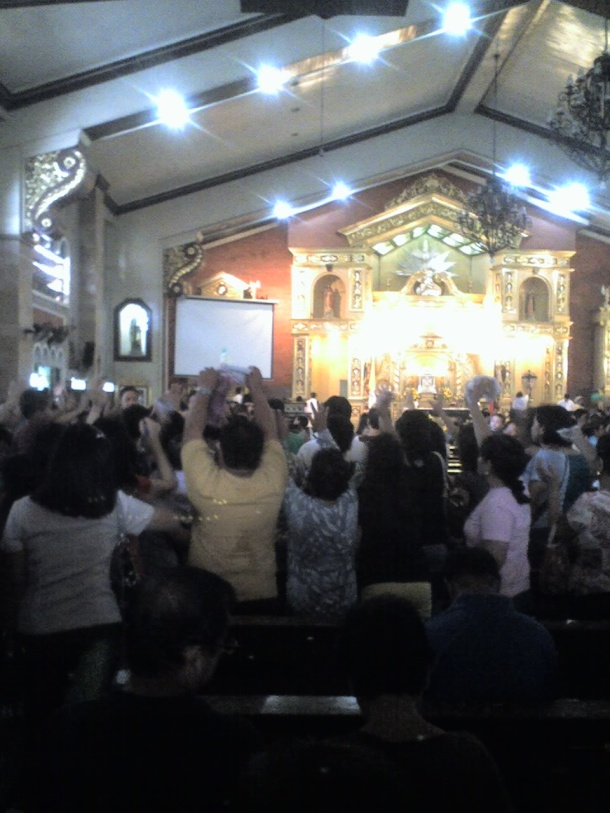 Blessing after Holy Mass.