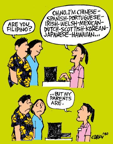 """Acó ba'y isáng """"Pinoy"""" o """"Filipino""""? Basta ang alám có, CUTE acó."""
