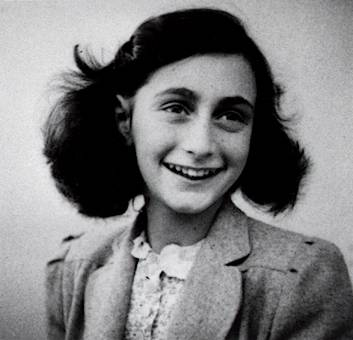 Anne Frank (1929-1945), a victim of man's classic stupidity.