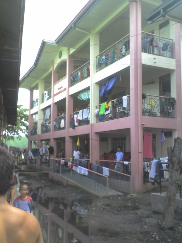 Even the classrooms were filled with evacuees. Classes were disrupted during the weeks after Typhoon Ondoy's wrath.