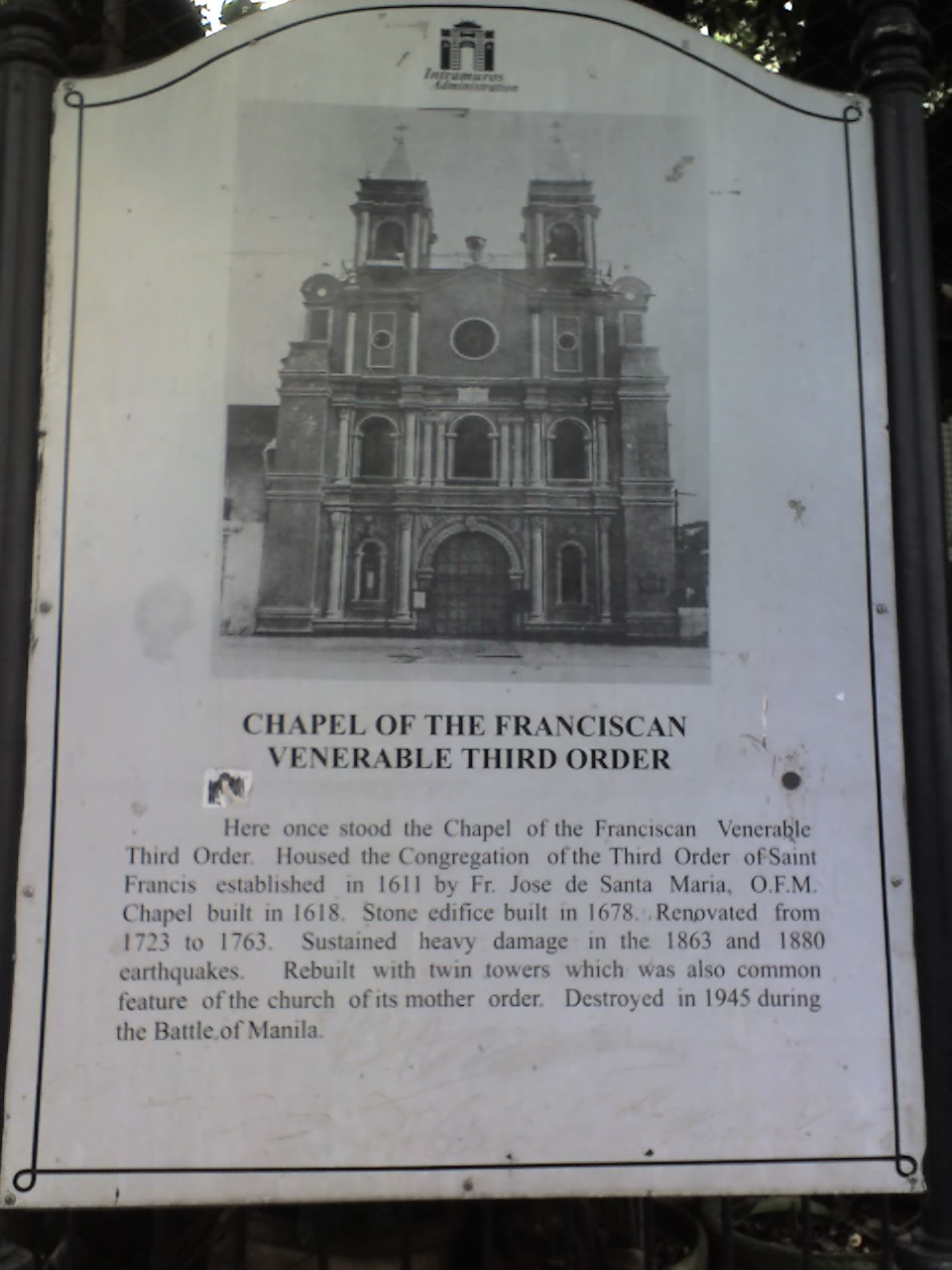 CHAPEL OF THE FRANCISCAN VENERABLE THIRD ORDER