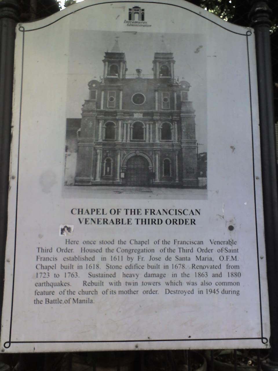 CHAPEL OF THE FRANCISCAN VENERABLE THIRD ORDER