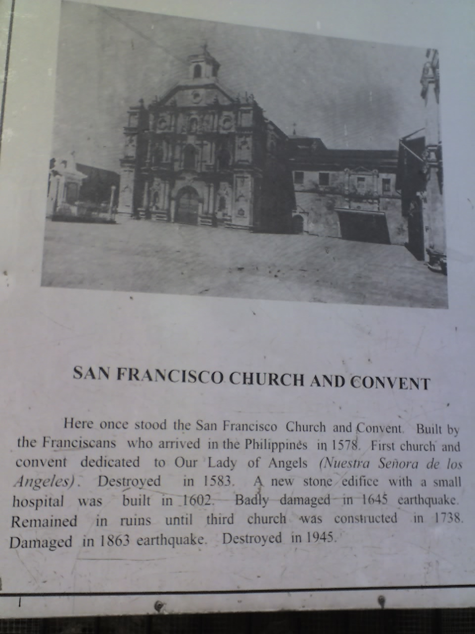 SAN FRANCISCO CHURCH AND CONVENT