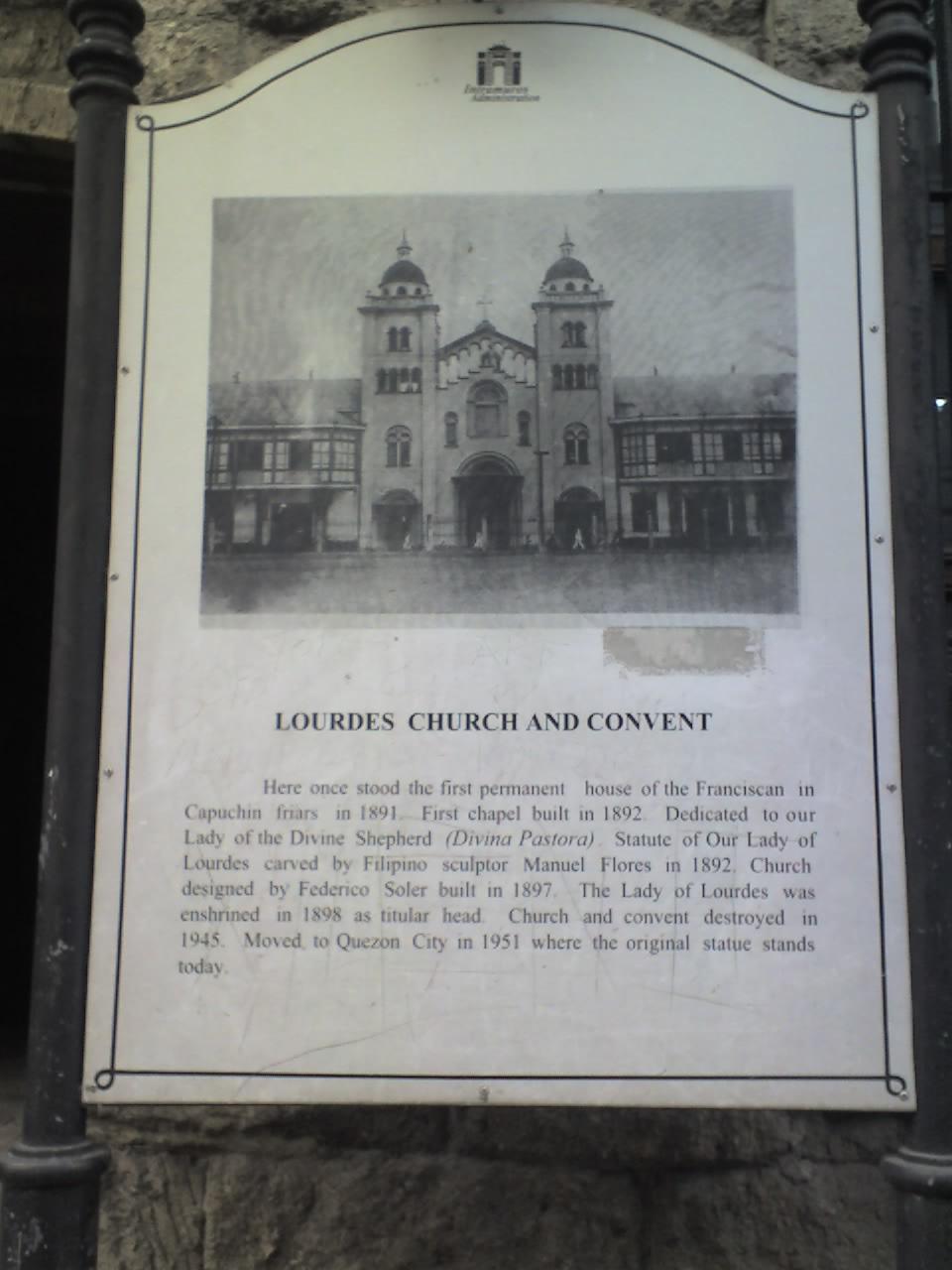 LOURDES CHURCH AND CONVENT