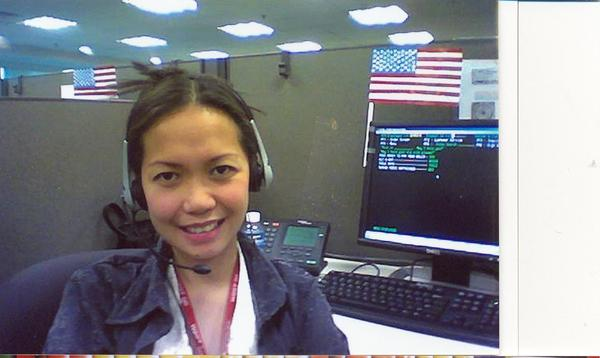 Wifey's call center photo.