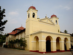 The church which houses the 17th-century gem -- Nuestra Señora de Caysasay.