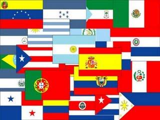 Banderas de los países que hablan castellano.