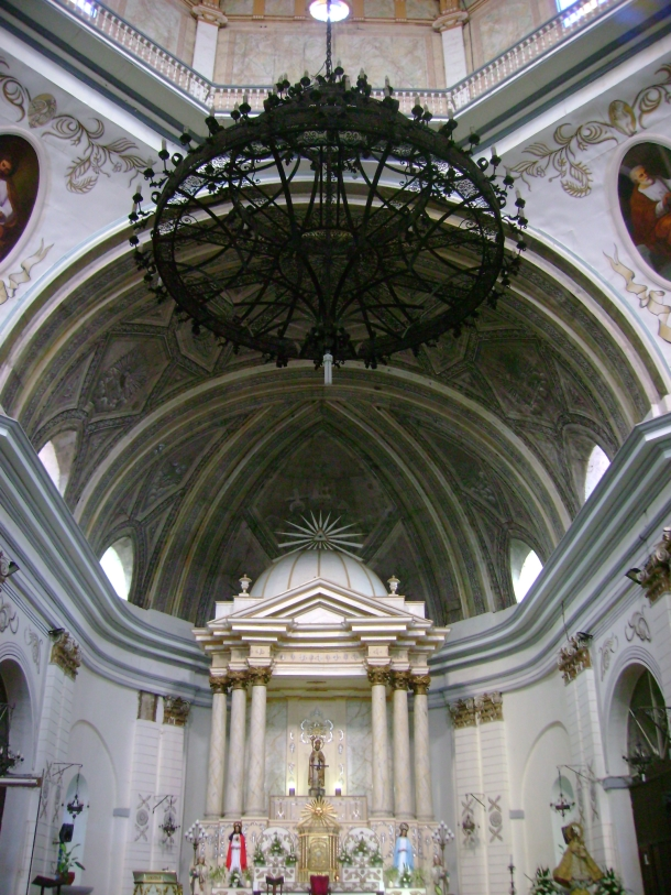 The church's imposing interiors.