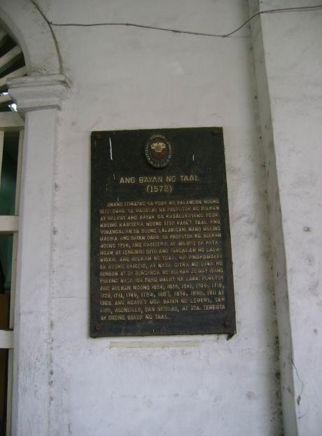 HISTORICAL MARKER OF TAAL, BATANGAS AT THE MUNICIPAL HALL