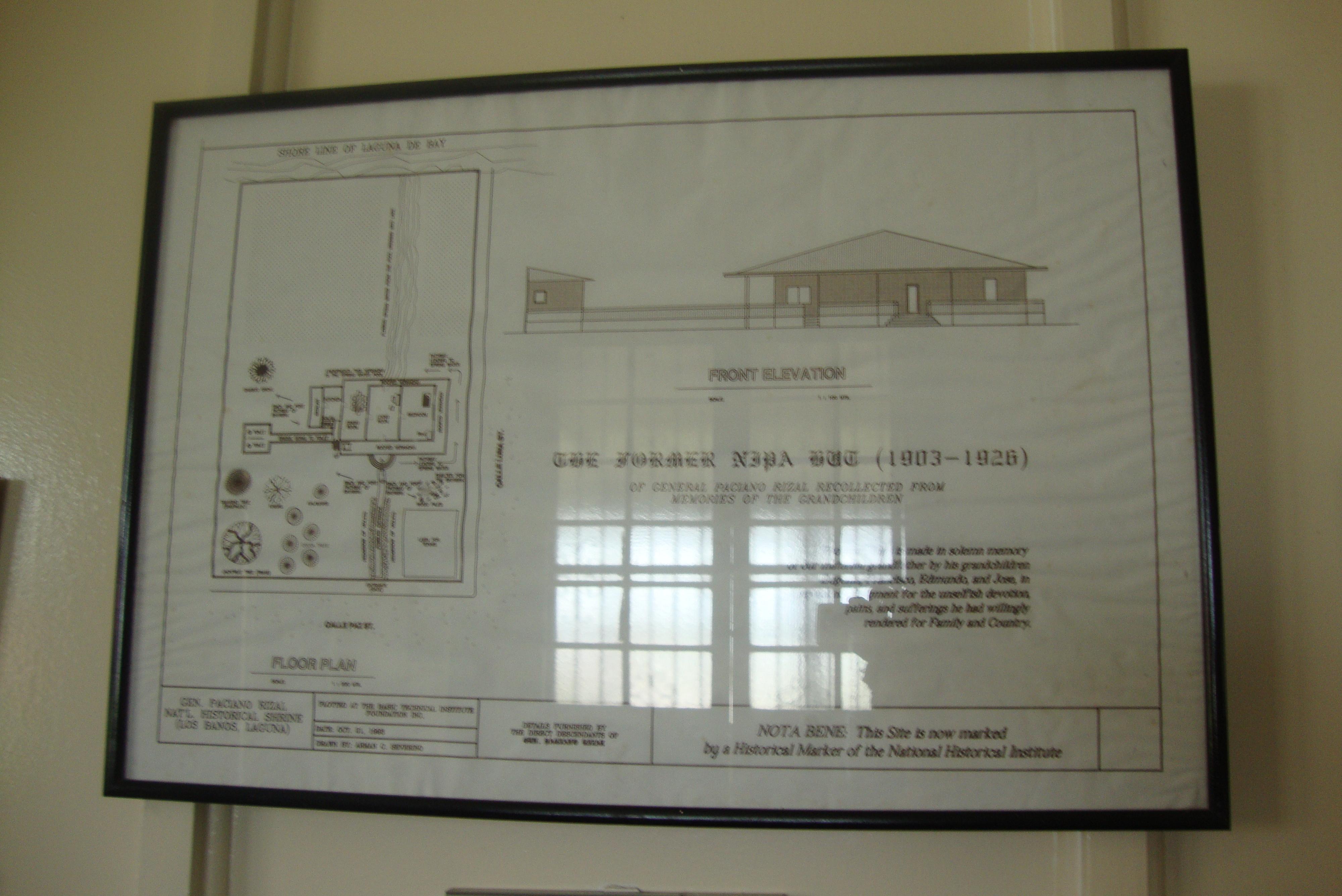 Los Baños General Plan:Nipa Hut Floor Plan